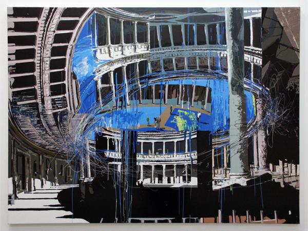 Yujin Kang - Palacio de Carlos V, Alhambra - 97x130cm Enamel en acrylverf op canvas