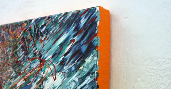 Yujin Kang - Pool - 41x25cm Enamel en acrylverf op canvas (detail)