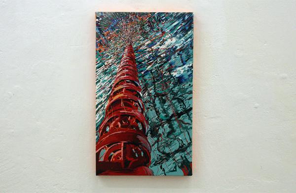 Yujin Kang - Pool - 41x25cm Enamel en acrylverf op canvas