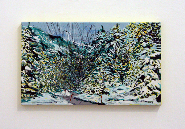 Yujin Kang - Road to the Slopes - 25x41cm Enamel en acrylverf op canvas
