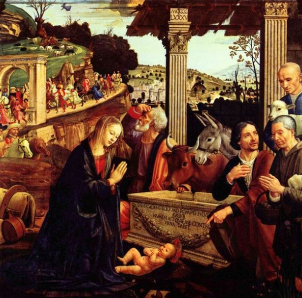 Domenico Ghirlandaio - Aanbidding door de herders
