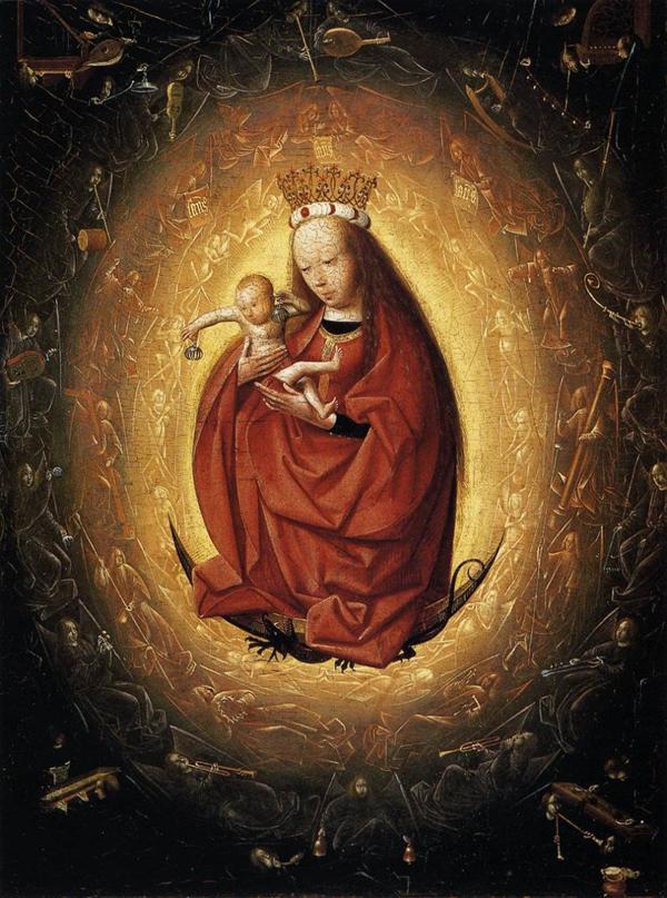 Geertgen tot Sint Jans - De Maagd en het Kind - 27x21cm Tempera op paneel