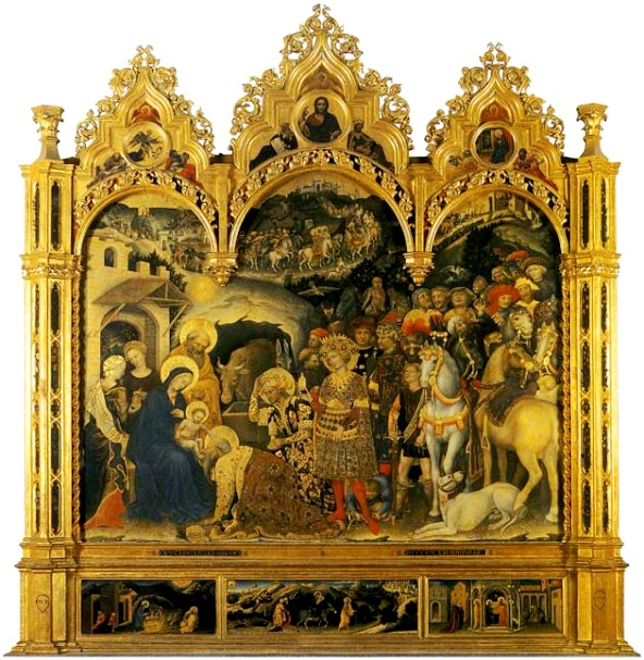 Gentileda Fabriano - Aanbidding door de drie wijzen uit het Oosten