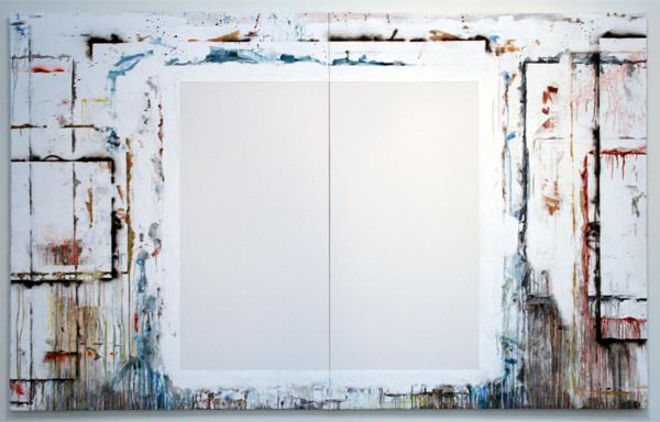 Gijs van Lith - A Painting's Womb; Diptych - Olieverf, acryllak, acrylverf, alkydverf en spuitlak op canvas