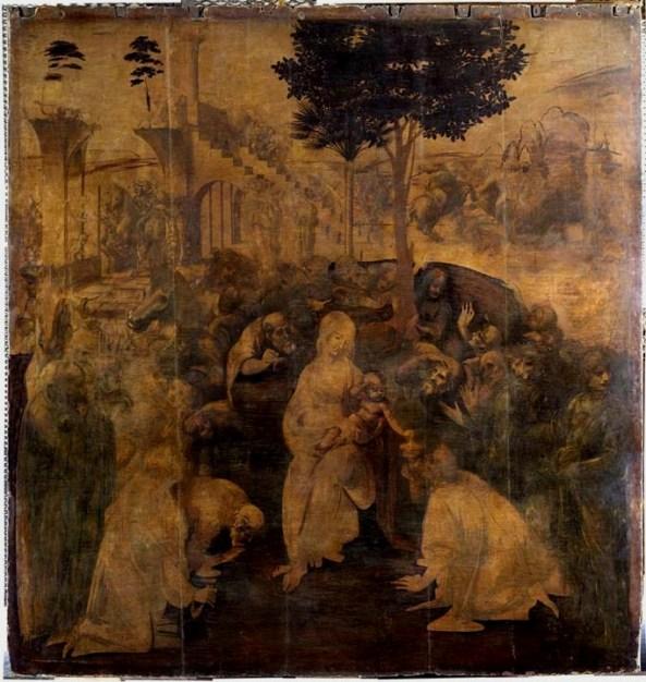 Leonardo Da Vinci - Aanbidding door de drie wijzen uit het Oosten