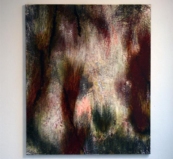 Reinoud van Vucht - Zonder Titel - 120x100 cmOlieverf en acryl op doek