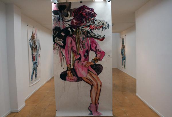 Charlotte Schleiffert - Paris - 300x151 Mixed media op papier