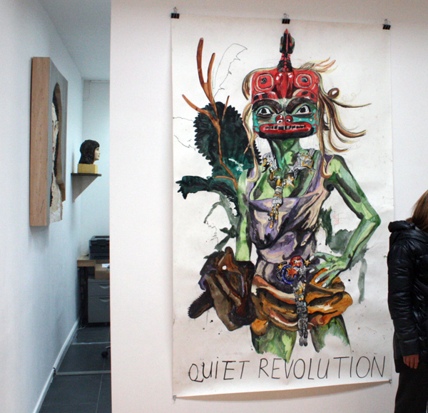 Charlotte Schleiffert - Quiet Revolution - 346x151 Mixed media op papier