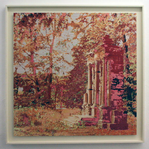 Gary Carsley - D52a Sansparell (The Funeral Monument to the pet dog of Wilhelmine, Margravine of Brandenburg) - 135x135cm Cprint op dibond en Lambda monoprint