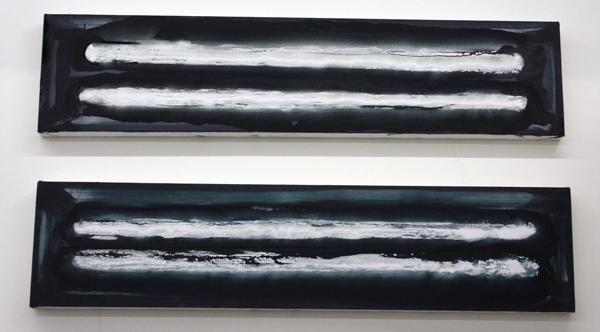 Jop Vissers - TL-bak - 30x130cm Olieverf, acrylverf en spuitbus op canvas