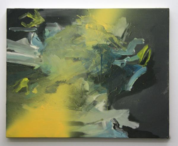 Jop Vissers - Voghel - 62x79cm Acrylverf, olieverf en spuitbus op canvas