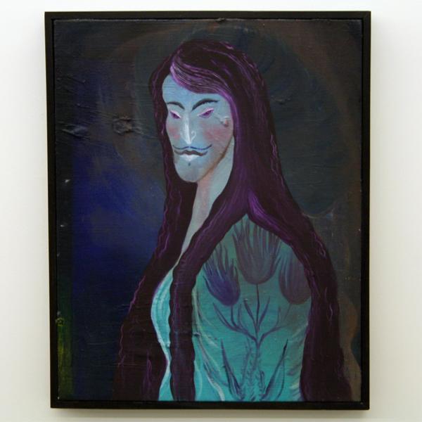 Marie Aly - La Bleu - 50x40cm Olieverf op canvas