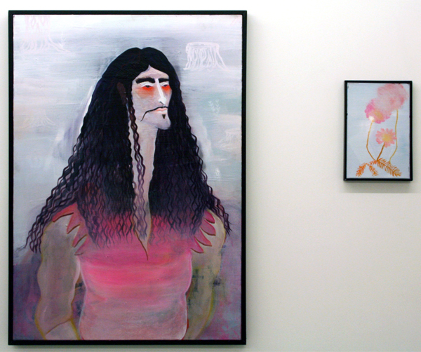 Marie Aly - Witte de Wit & Plänzchen - 100x70 & 30x20cm Olieverf op canvas