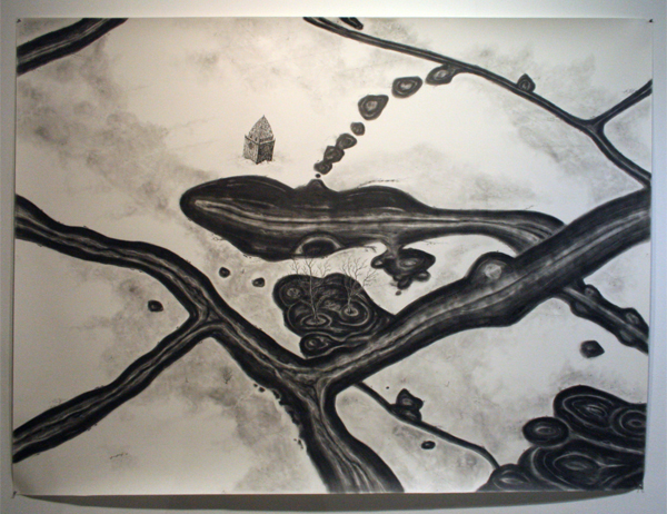 Rik Smits - North Mountain River - 180x240cm Potlood op papier