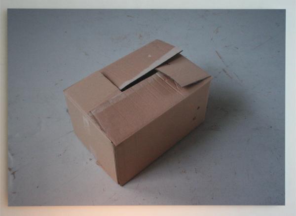 Rumiko Hagiwara - Books, dvds, cables, umbrella, flashlight, ashtray, cushions in the carton box - 100x71cm Inkjet print op aluminium