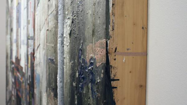 Tjebbe Beekman - The Modernist - 305x200cm Acrylverf, enemel en zand op canvas op paneel (detail)_2