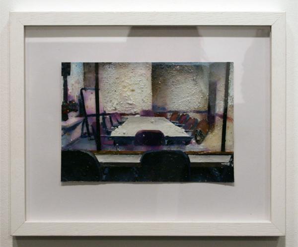 Tjebbe Beekman - Untitled - 27x33cm Acrylverf, enamel en zand op papier