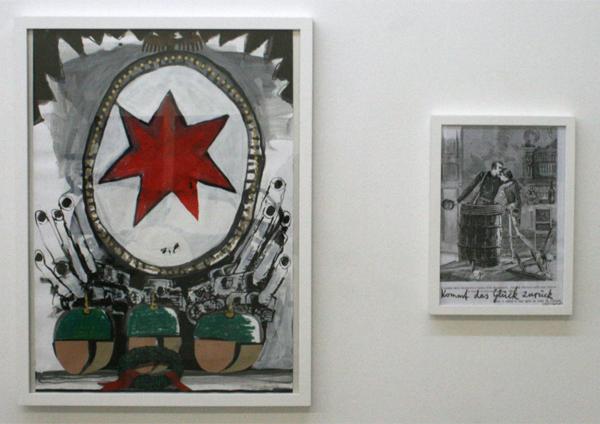 Jan Brokof - Dankml (Alt) & (X) - 60x42cm Collage & 34x24cm Mixed Media