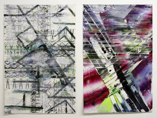 Koen Delaere - Untitled - 100x65cm Olieverf en inkt op papier