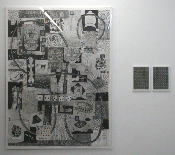 Koen Taselaar - The Drawing Club - 186x140cm Mixed Media op papier