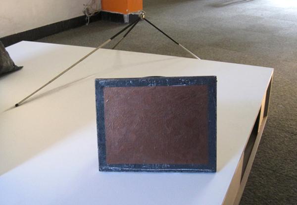 Pim Kersten - Untitled (point explosion) - mixed media installatie (detail)