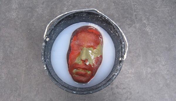 Remy Habets - Scene #4 - Polyurethane, pigment, verf, water, emmer