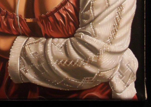 Sierk van Meeuwen - Rustend meisje - Galerie Bart - detail