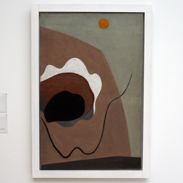 Alexander Calder - Zonder Titel - Olieverf, hout en touw op doek