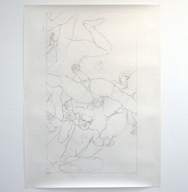 Paul van Dongen - Plafondtekening - 220x125cm Potlood op papier