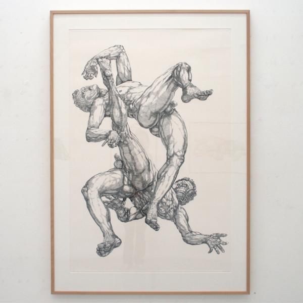 Paul van Dongen - Vallen 5 - 151x100cm Ets