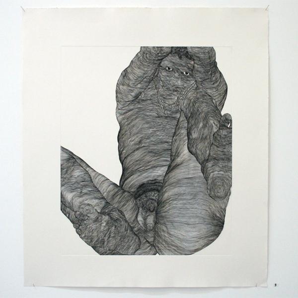 Paul van Dongen - Zonder Titel (Hoogtelijnen) - 60x50cm Ets
