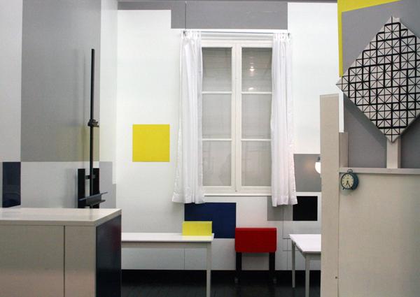 Reconstructie atelier Piet Mondriaan