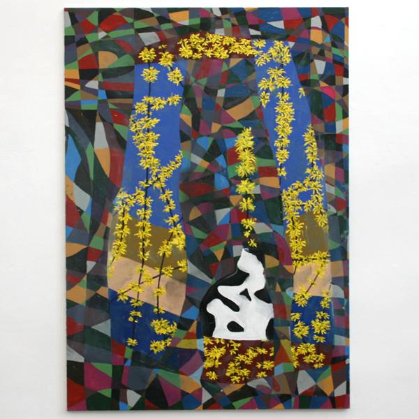 Simon Hemmer - Ohne Titel - 220x155cm Olieverf op canvas