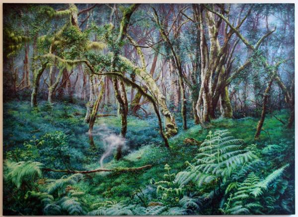 Anya Janssen - The fog - 160x220cm