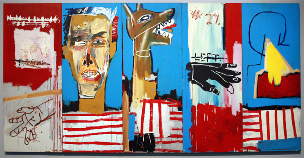 Jean-Michel Basquiat - Dog Bite Ax to grind - Acrylverf op doek