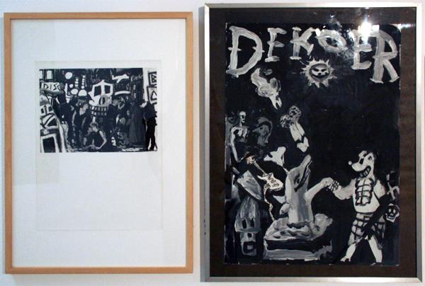 Peter Klashorst - De Koer afficheontwerp - Gouache op papier