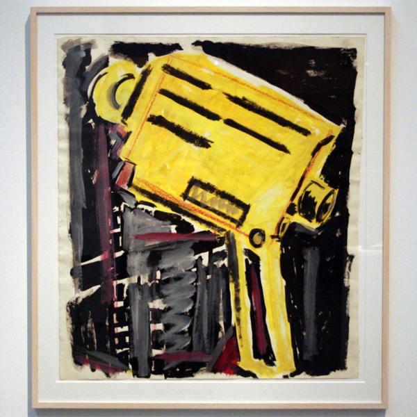 Rene Daniels - Zonder Titel - Acrylverf en kleurkrijt op papier