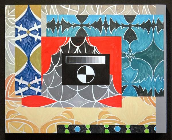 Navine G Khan-Dossos - Cascades VIII - 40x50cm, Gouache op paneel