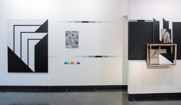 Niek Hendrix - Zero Eleven (Flags) - 120x160cm & Euthymius - 51x38cm & Cabinet (The Devouring of the Sun) - 121x67x28cm Olieverf en potlood op paneel