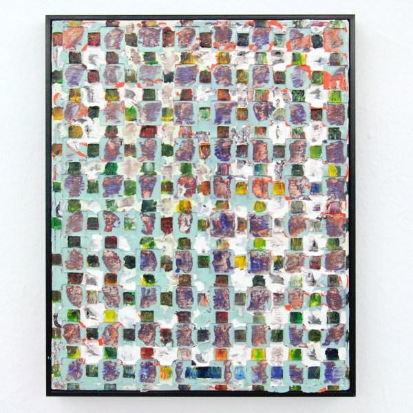 Tom Poelmans - Randanimatie - 24x30cm Olieverf en acrylverf op doek