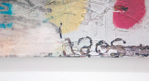 Tom Poelmans - Une Belle Historie - 50x60cm Mixed media op paneel (detail)