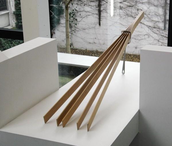 David Bernstein - Spatula - Metalen spatel en zwart elzenhout