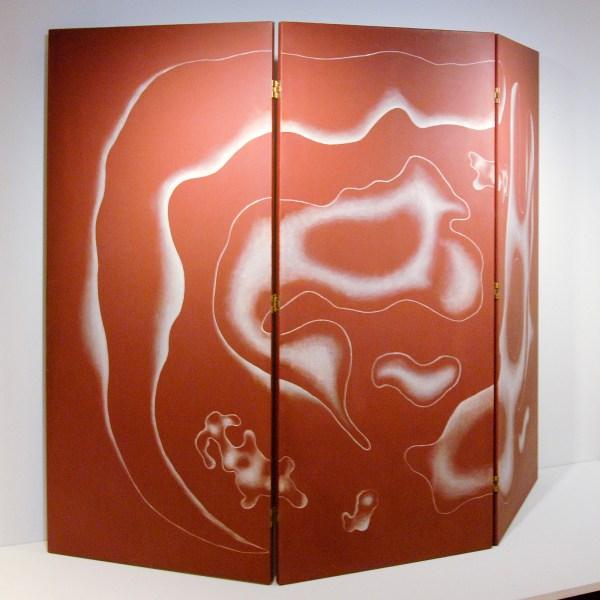 Fernand Leger - Screen, composition on Brown Background, three parts - Olieverf op canvas (achterzijde van scherm dat later in twee delen is opgesplitst), 1930