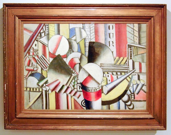 Fernand Leger - The Pink Towboat - Olieverf op canvas, 1918