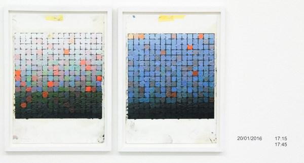 Stijn Cole - Colorscape (Seloignes of Cancale, diverse data) - 30x21cm Olieverf op inkjet print