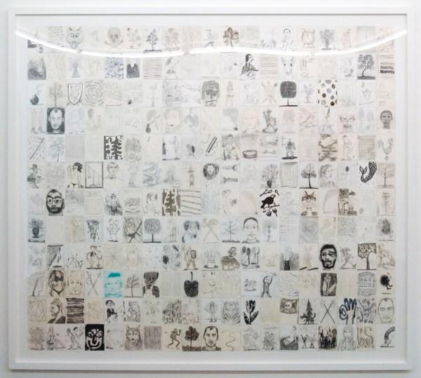 Ben Sledsens - Ringing Bells - 192x215cm Collage van 228 tekeningen op papier