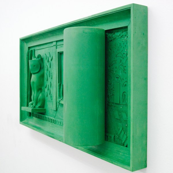 Nadia Naveau - Green Silver Screen - 135x70x24cm, Epoxy (detail)