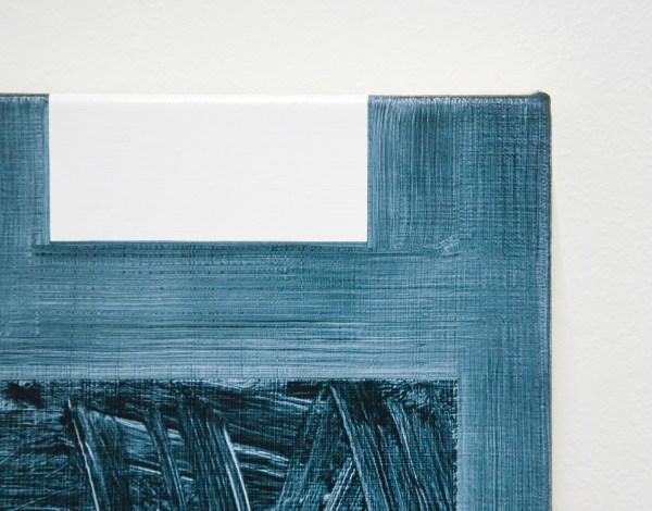 Robert Holyhead - Untitled (Dark Green) - 51x36cm Olieverf op canvas (detail)