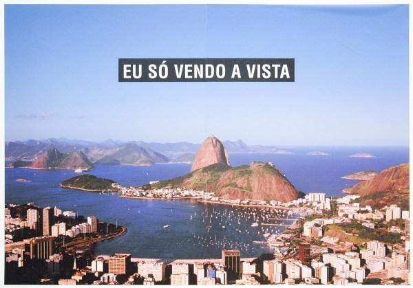 Marcos Chaves - Eu so vendo a vista (ik verkoop of zie enkel het uitzicht) - 186x250cm C-print