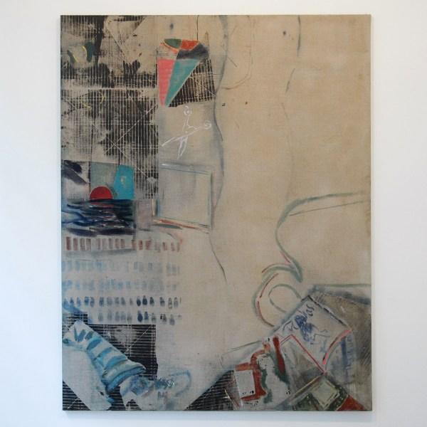 Nick Goss - 230x180cm Olieverf, zeefdruk en oliepastel op linnen